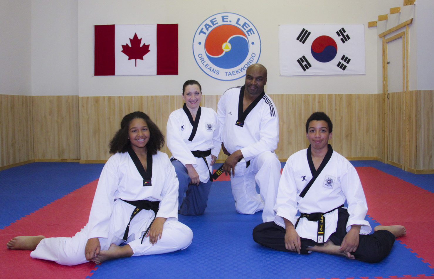 Orleans Taekwondo, with Master and Mrs Gibson.